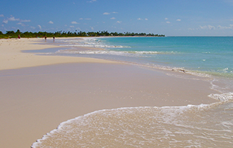 Pink sand beach in Barbuda