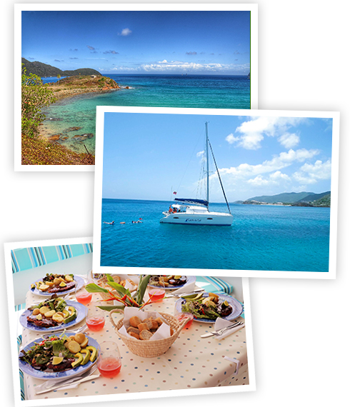 "Catamaran sailing charters in Antigua aboard ""Catch the Cat"""